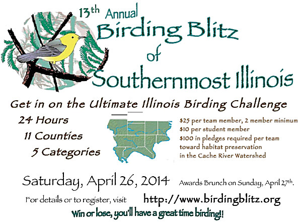13th Annual Birding Blitz of Southernmost Illinois