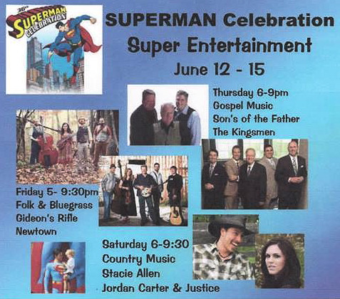 Superman Celebration entertainment lineup image