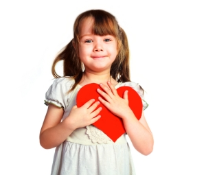 child with Valentine
