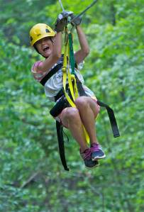 woman zipping
