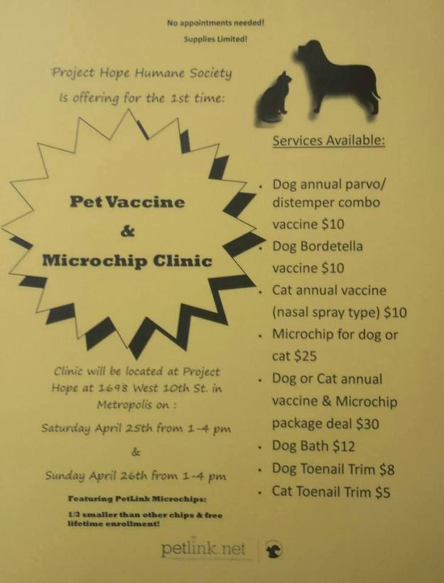 Project Hope Pet Vaccine & Microchip Clinic