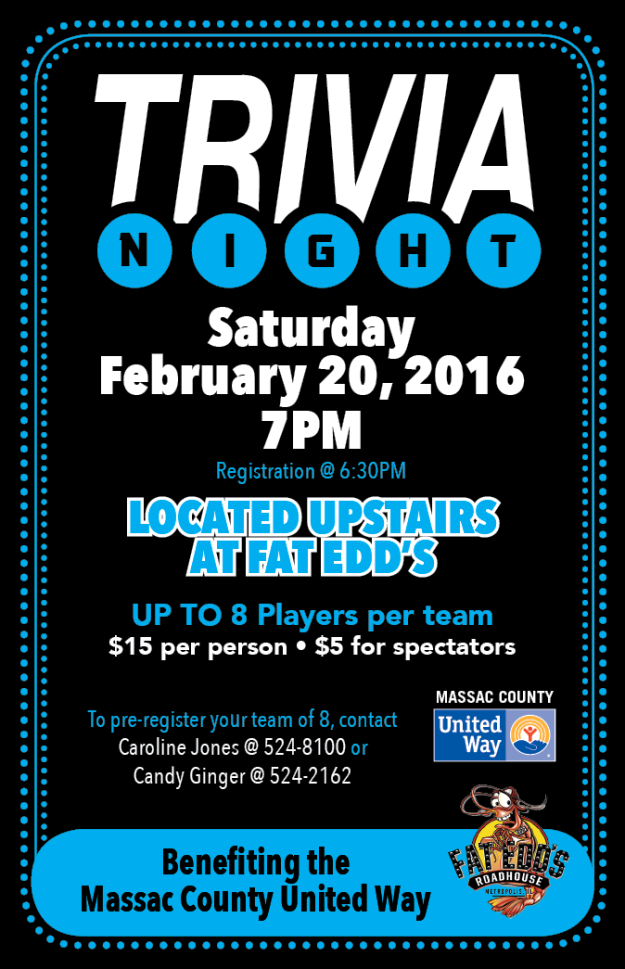 United Way 2016 Trivia Flyer